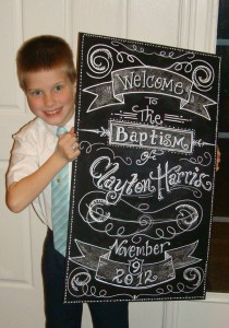 Clayton' baptism