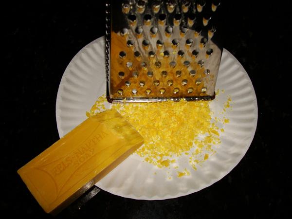Grate the Fels-Nappa Soap