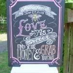 signature drink wedding chalkboard Art