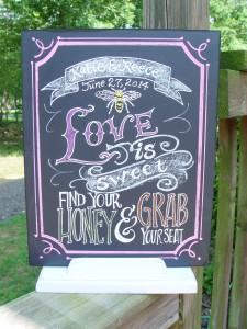 signature drink wedding chalkboard Art