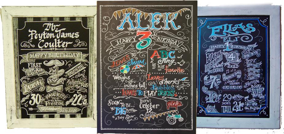 birthday chalkboards